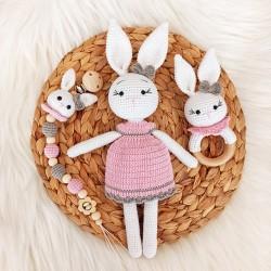 Elbiseli Kız Tavşan Seti