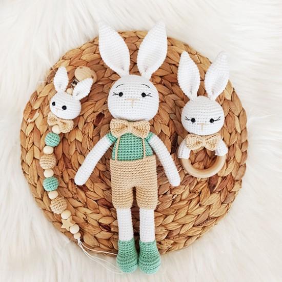 Elbiseli Sevimli Tavşan Seti