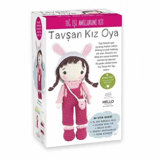 Tuva SCF02 Tavşan Kız Oya Amigurumi Kit